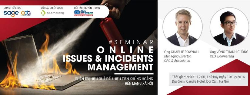 Seminar – Online Issues & Incidents Management